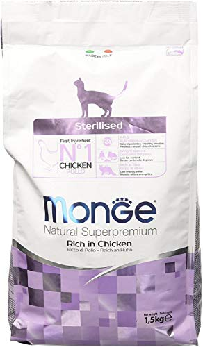 MONGE NATURAL SUPERPREMIUM Cat Sterilised Alimenti Gatto Secco Premium