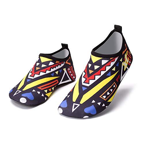 Sapatos aquáticos unissex descalço secagem rápida para praia meias aquáticas sapatos de ioga para homens e mulheres, Amarelo, 4.5-5.5 Women