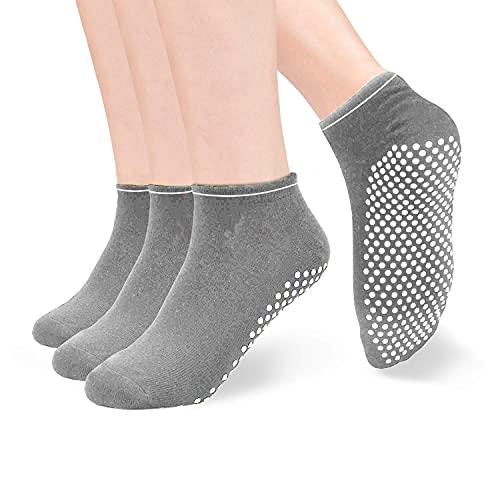 HYCLES Ballerina Socken Damen 35-40- ABS Socken Damen Yoga Damen Dick Anti-Rutsch Socken Sneaker...