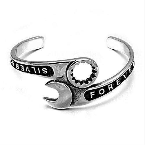 Hochwertige Mode Werkzeuge Schraubenschlüssel Armband Männer Titan Edelstahl Manschette Armreifen Motorrad Armbänder Männer Schmuck