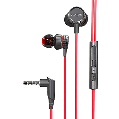 MAIEY Earphones in-Ear Headphones with Mic Earphones Volume Control Crystal-Clear Audio Balanced Highs and Lows Memory Foam Durable Cable Bass for Computer Laptop PC