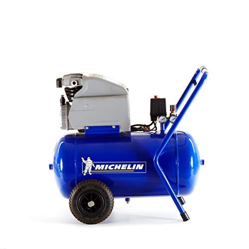 MICHELIN - Compresor de aire MCX50 - Tanque de 50 litros - Motor de 2 CV - Presión máxima 10 bar - Flujo de aire 170 l/min - 10,2 m³/h