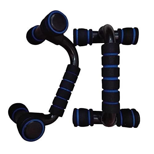 XIAOSHI BH hochdrücken 2 stücke H i-förmige ABS Fitness Push Up Bar Push-ups Ständer Bars Werkzeug Fitness Brust Training Übung Schwamm Hand Grifftrainer hochdrücken (Color : Blue)