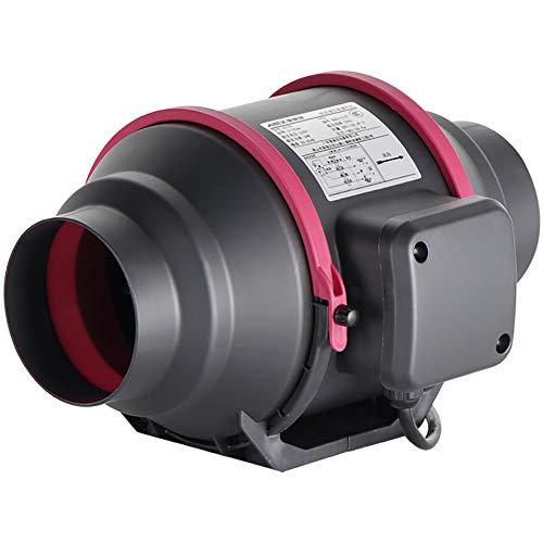 BCXGS Badventilator, 150 mm, ronde luchtventilator, geluidsarme ventilator met 50 W vermogen en 7 M3/min windsnelheid, efficiënt en energiebesparend, voor keuken, kassen en tenten