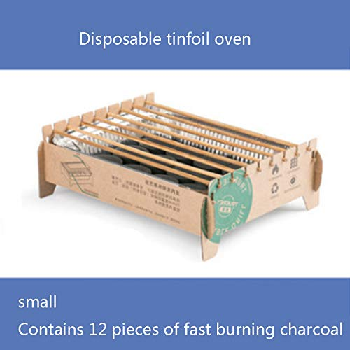 TYZY Einweg-Grill tragbare smokeless Kohle Mini Grill Umweltschutz Barbecue-Ofen für Außenhandelshaupt,Small