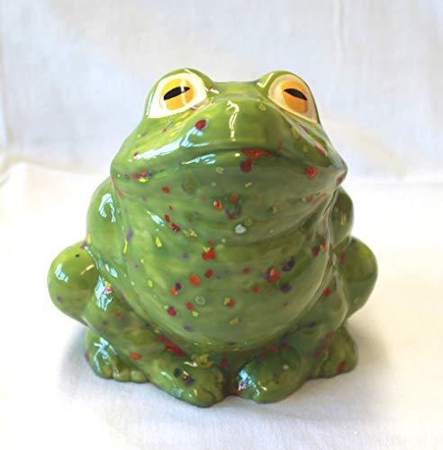 Frosch Hans im Glück, Keramik, Handarbeit, Teich- und Gartendeko