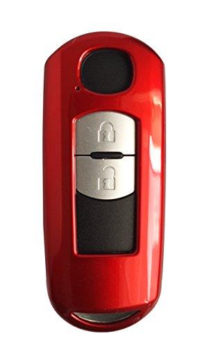 CK+ Mazda Auto-Schlüssel Hülle ABS Lack Key Cover Case Etui für 3 2 6 CX-5 MX-5 - Rot