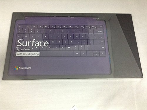 Microsoft Surface Type Cover 2 (w Backlighting) Keyboard - Purple for Surface Pro 2 / Pro / RT 2 /RT (US layout)