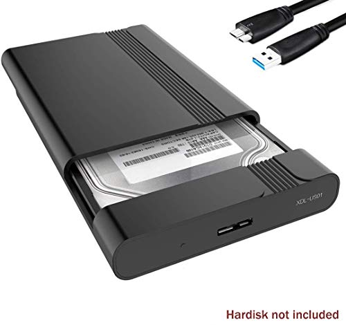 GeekerChip 2.5 inch USB 3.0 HDD SSD Case Esterno per Disco Rigido 7-9.5mm 2.5' SATA I/II/III Hard Disk con USB 3.0 Cavo,Strumento Gratuito Supporto UASP