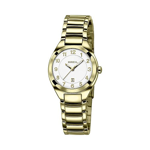 Original BREIL Reloj Precius Mujer Acero, IP Oro Sólo el Tiempo - tw1327