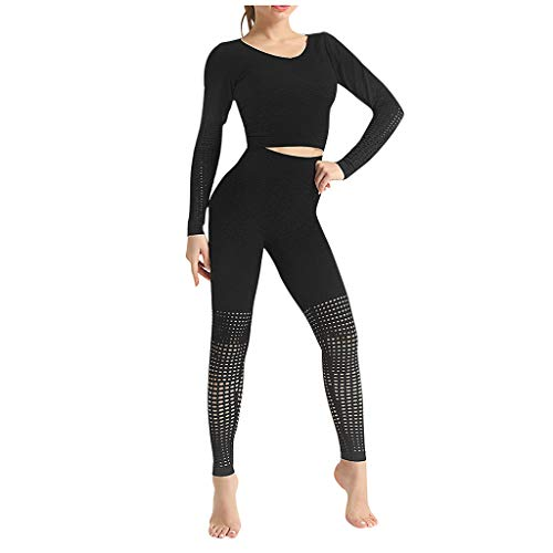 Buy Bargain Dainzuy Women 2 Piece Outfits Crop Top Long Pants Leggings Yoga Set Tracksuits High Wais...