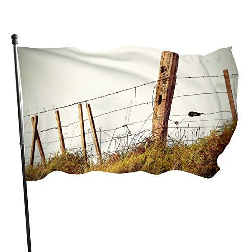 N/A Vlag 3x5 FtNieuw Zeeland Schapenhek, Enkelzijdige Tuinvlaggen voor Binnen Buiten Gebruik UV Beschermd