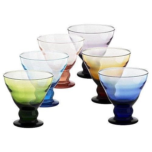 6 X Eisschale Dessertschale Eisbecher Glas Antico 6 Farbig 12,5 cm Gelato Vero