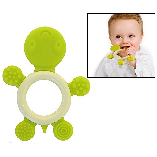 Itian Baby Pacifiers in Silicone - Progetto Massaggiagengive Tartaruga(Verde)