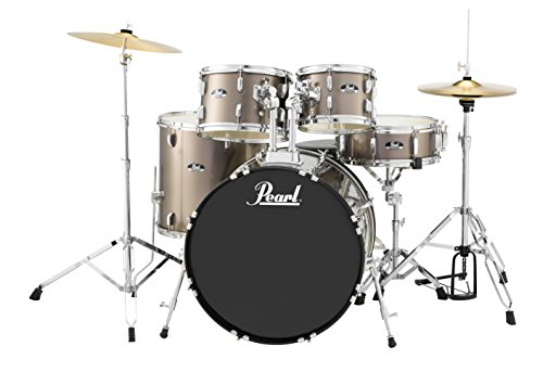 Pearl Roadshow 5-Piece Drum Set, Bronze Metallic (RS525SC/C707)