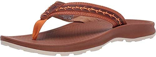 Chaco Women's Playa Pro Leather Flipflop, Spice - 8 M US