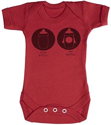 Baby Buddha Your Bottle My Bottle Body bébé - Gilet bébé - Body bébé Ensemble-Cadeau - Naissance Rouge