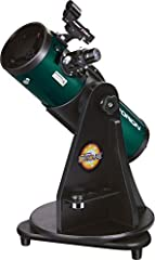 Substantial 4.5 inch aperture and fast f/4 focal ratio provides bright, detailed views of solar system targets like the Moon and planets, as well as wide-field celestial objects like nebulas and star clusters Ships pre-assembled so you can go from th...