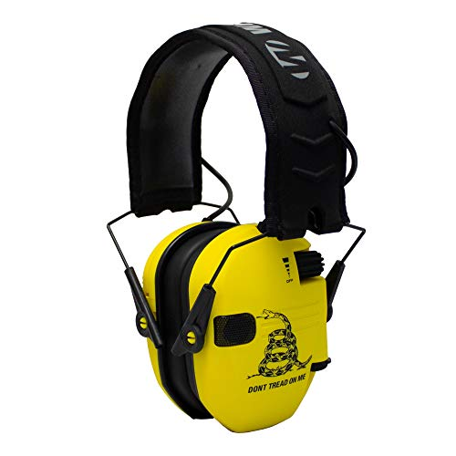 Walker's Razor Slim Electronic Shooting Hearing Protection Muff (Don't Tread On Me, Yellow)