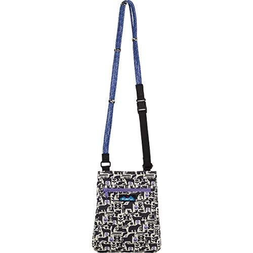 KAVU Keepalong Semi Padded Sling Canvas Rope Crossbody Bag - Charcoal Fable