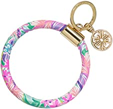 Lilly Pulitzer Leatherette Round Key Ring Chain, It Was All A Dream
