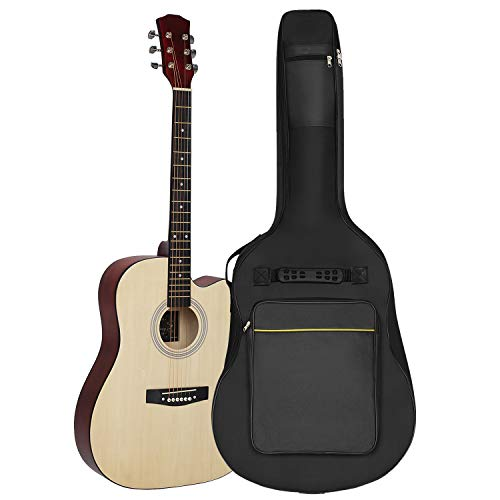 Jupitoo Guitar Bag Acoustic Guitar Case with Thick Padding Guitar Gig Bag for...