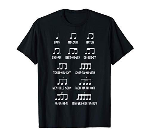 Komponist Rhythmus Musik Geschenkidee Bach Mozart Beethoven T-Shirt