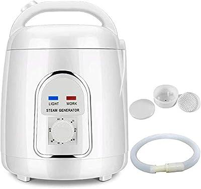 Vogvigo Portable Sauna Steamer Pot, 1.5-1.8 Liters Suit, Home SPA Shower Body Relaxation, Face Beautifying 110V (US Plug)