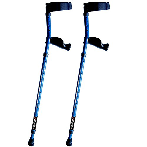 "in-Motion Forearm Crutches | Spring Assist | Ergonomic Handles | Articulating Tips | Size Tall (4'9"" - 6'3"") 