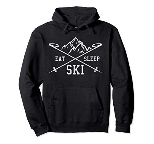 Eat Sleep Ski Repeat - Skiurlaub Skifahrer Geschenk Pullover Hoodie