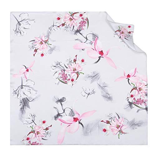 Wejnni Sjaal van zijde voor dames, elegant, wacht op het verjaardagscadeau voor kleine moeders, Chinese stijl, met kleine vierkante handdoek van zijde met visbloesem