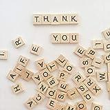 CLBEST 100 Unids/Set Palabras Inglesas Letras Del Alfabeto de Madera Letras de Scrabble Juguetes Educativos De Madera