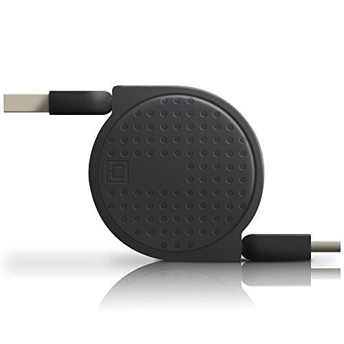 ACOCOBUY USB C Cable Carga Rapida,Cable USB Tipo C Retráctil,Cable de Extensor USB3.0 Cable,Organizador Cable para Samsung s8 s9 Plus,Sony Xperia L1/XA1 Plus/XA1 Ultra/ XA2,Huawei p9 p10 p20 - Negro