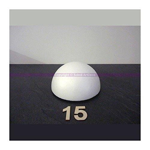 Lealoo Demi-Sphère de 15 cm de diamètre, Dôme Creux en polystyrène de 7.5cm de Haut