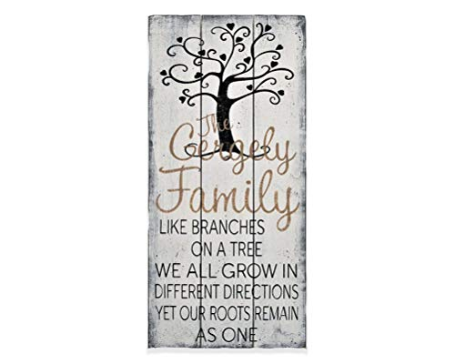 Ragm7n5 señal de árbol genealógico, Regalo Personalizado, Cartel rústico, Ramas Familiares en un árbol, Placa de Pared, decoración del hogar, Regalo de Boda, 8