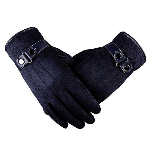 UFODB Herrren Skihandschuhe Handschuhe Wildleder Winterhandschuhe Snow Snowboard Gloves Herren Touchscreen Warme Sporthandschuhe Sport Rutschfest Trainingshandschuhe