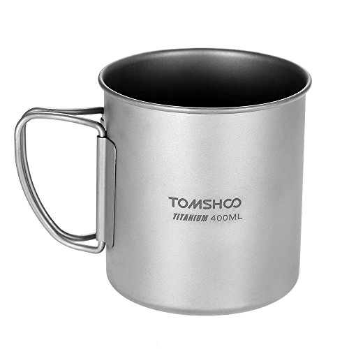 TOMSHOO Tenedor-Cuchara de Titanio Plegable Spork Camping Excursionismo con Mochila Dinner Spork...