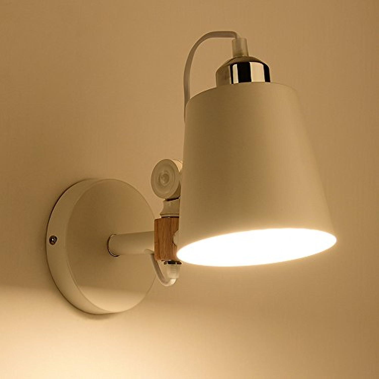 StiefelU LED Wandleuchte nach oben und unten Wandleuchten Holz kunst Schlafzimmer japanische Nachttischlampe Balkon gang Echtholz Wandleuchte 26  21 cm, H).