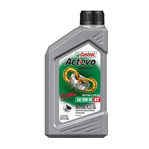 Castrol 06400 Actevo Xtra 10W-30 4-Stroke Motorcycle Oil - 1 Quart, (Pack of 6)
