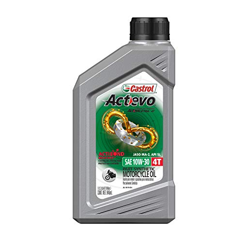 Castrol 06400 Actevo Xtra 10W-30 4-Stroke Motorcycle Oil - 1 Quart, (Pack of 6)