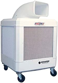 SCHAEFER WC-1/3HPAOSC WayCool, Portable Evaporative Cooler, Oscillating with Automatic Shutoff, Blade Material: Galvanized Steel, 1/3 hp