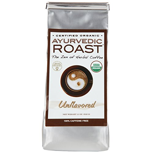 Ayurvedic Roast - Top Caffeine Free Certified Organic Coffee Substitute - Natural Grain Beverage and Herbal Blend that is a Great Non Acidic Coffee Alternative