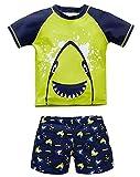 Bevalsa Maillot de Bain Combinaison Anti-UV Bébé Enfant Garcon Maillot de Bain Deux-pièces T-Shirt + Shorts Motif Petite...