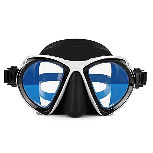 OhhGo Set de snorkel seco, portátil para adultos para buceo, gafas de buceo y equipo subacuático (azul)