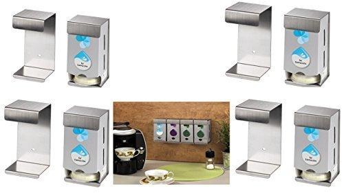 TASSIMO WANDHALTERUNG FÜR 8 Karton acht Wandhalterungen für jeweils eine Tassimo-Original-Verpackungen •Platzsparend •Einfache Montage •Beliebig Erweiterbar •Hochwertiges Metall