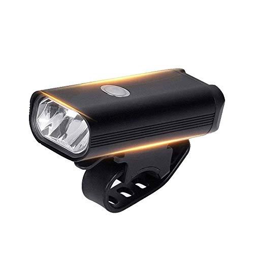 HIGHKAS Éclairage vélo, équipement d'équitation Lampe d'avertissement klaxon électrique USB Tous Les vélos, Montagne, Lampe Poche Route, Charge Forte, éclairage vélo Montagne