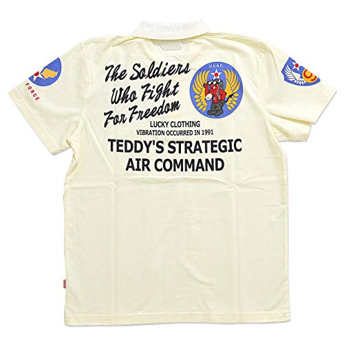 (テッドマン)TEDMAN AIR COMMAND半袖ポロシャツ TEDMAN テッドマン TMPS-200 エアフォース ミリタリー エフ商会 アメカジ ホワイト XXL