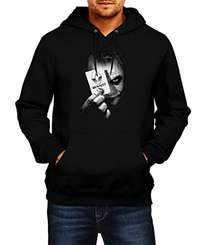 Sweats à Capuche Renault Joker 1 Logo Hoodie Homme Men Car Auto Tee Black Grey Noir Gris Long Sleeves Manches Longues Present Christmas (2XL, Black)