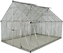 Palram Nancy/™ Auvent de Porte Marquise de Porte D/'entr/ée Moderne Cadre en Aluminium Gris et Polycarbonate Transparent