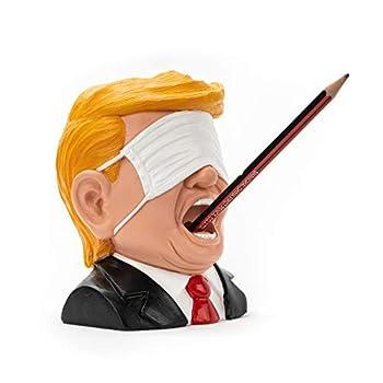 The Original Trump Pen Holder Dump Trump Funny Gift Christmas Present Desk Toys for Office for Men Gag Gifts for Adults White Elephant Gift